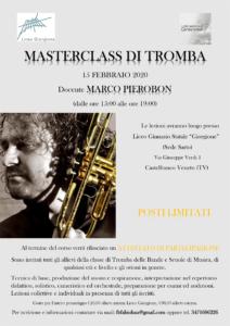 Locandina masterclass di tromba